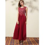 Trendy Lace Bodice Maxi Women's Prom Dress deal