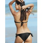 best Cute Letter Print Strapless Push Up Women's Bikini Set