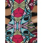 Alluring Halter Full Print Hollow Out Women's One-Piece Swimsuit photo