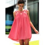 cheap Stylish Round Neck Sleeveless Hollow Out Dress For Women