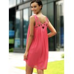 Stylish Round Neck Sleeveless Hollow Out Dress For Women for sale