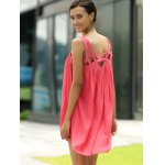 best Stylish Round Neck Sleeveless Hollow Out Dress For Women