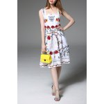 Lace Spliced Hollow Out Embroidery Tank Dress deal