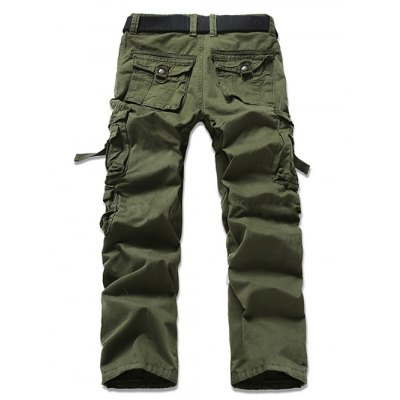 Casual Solid Color Cargo Pants For Men