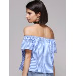 Chic Women's Off The Shoulder Pinstriped Blouse for sale