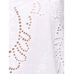 best Chic Women's Flare Sleeve Embroidery Dress