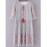 Casual Striped Half Sleeve Women's Dress