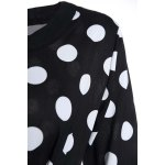 3/4 Sleeves Scoop Neck Polka Dot Pattern Ladylike Women's Dress for sale
