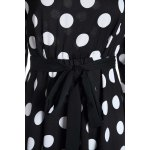 3/4 Sleeves Scoop Neck Polka Dot Pattern Ladylike Women's Dress deal