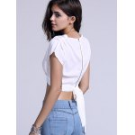 Chic Plunging Neck Zippered Plain Crop Top deal