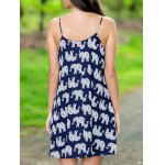 cheap Stylish Cami Print Mini Dress For Women