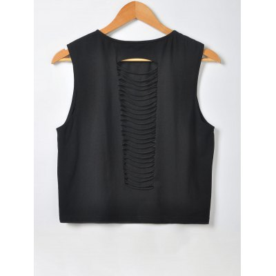 Fashionable Slimming Scoop Neck Openwork Tees For WomenTank Tops<br>Fashionable Slimming Scoop Neck Openwork Tees For Women<br><br>Material: Polyester,Spandex<br>Clothing Length: Crop Top<br>Sleeve Length: Sleeveless<br>Collar: Scoop Neck<br>Style: Fashion<br>Season: Summer<br>Pattern Type: Solid<br>Weight: 0.380kg<br>Package Contents: 1 x Tee