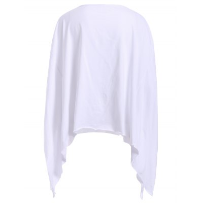 Chic Round Neck Cut Out Flag Print Asymmetrical Womens T-ShirtTees<br>Chic Round Neck Cut Out Flag Print Asymmetrical Womens T-Shirt<br><br>Material: Polyester<br>Clothing Length: Regular<br>Sleeve Length: Three Quarter<br>Collar: Round Neck<br>Style: Fashion<br>Season: Summer<br>Pattern Type: Print<br>Weight: 0.255kg<br>Package Contents: 1 x T-Shirt