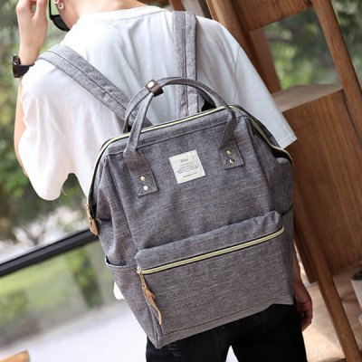 Leisure Zips and Canvas Design Backpack For Men