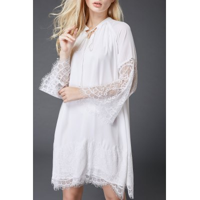 Lace Spliced Hollow Out Dress