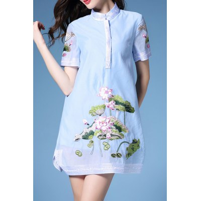 Flared Lotus Dress