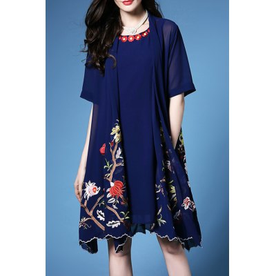 Chiffon Tank Dress and Cover Up Twinset