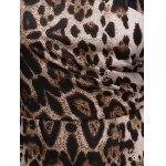 best Stylish V-Neck Sleeveless Leopard Print Midi Dress For Women