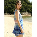 Casual Printed Scoop Neck A-Line Women's Tank Dress deal