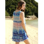 Casual Printed Scoop Neck A-Line Women's Tank Dress for sale