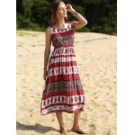 Ethnic Print Waisted Long Dress For Women for sale