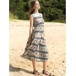Elegant Colorful Animal Print Long Dress For Women deal