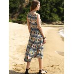 Elegant Colorful Animal Print Long Dress For Women photo