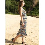 Elegant Colorful Animal Print Long Dress For Women for sale