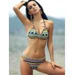 cheap Strappy Printed String Bathing Suit