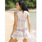 Alluring Lace Spliced Scoop Neck Women's Cover-Up deal