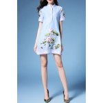 Stand Neck Flared Lotus Dress deal
