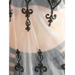 best Stylish Scoop Neck Lace Spliced Embroidered Women's Cover-Up
