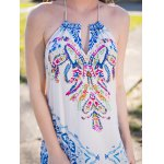 Fashion Halter Print Cut Out Maxi Dress For Women deal