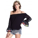 Chic Women's Ethnic Print Off The Shoulder Blouse deal