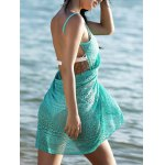 Guipure Backless Openwork Bathing Suit Cover-Ups