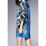 cheap Colorful Printed Mini Dress