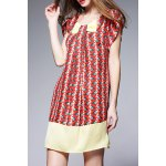 Printed Mini Silk Dress deal