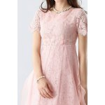 Lace Hollow Out Mesh Spliced Dress for sale