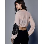 Stylish Lace Drawstring Crop Top For Women deal