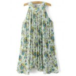 cheap Sweet Pleated Flowing Women's Chiffon Dress
