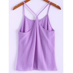 Sweet U Neck Spaghetti Strap Solid Color Camisole Top For Women deal