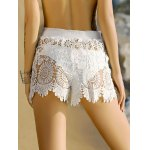 Stylish Crochet Scalloped Cover-Up Shorts For Women deal