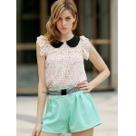 Elegant Bowknot Embellished Solid Color High-Waisted Shorts For Women photo