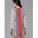 Floral Lace Panel Bohemian Tunic Dress deal