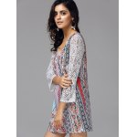cheap V Neck Lace Tiny Floral Print Bohemian Dress