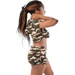 Hooded Camo Crop Top with Shorts for sale