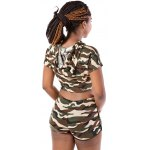 best Hooded Camo Crop Top with Shorts