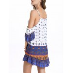Stylish Cami Off The Shoulder Ethnic Print Women's Dress deal