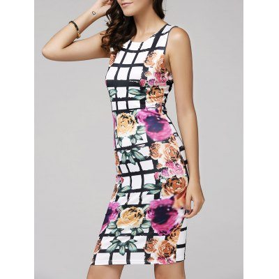 Women's Floral Printed Bodycon Dress