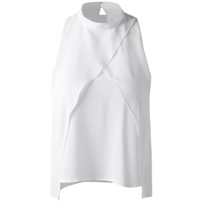 Cut-Out Stand Collar Top For Women